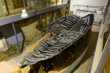 The Famous Kyrenia Ship, A Wreck Of A 4th-century BC Greek Merchant Ship In The Museum Of The Kyrenia Castle In Cyprus