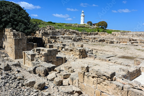 Part of the Kato Paphos Archaeological Park in Cyprus Canvas-taulu