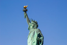 Close Up Of The Statue Of Liberty, New York City