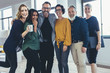 Leinwandbild Motiv Cheerful business professionals