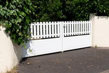 White PVC Gate Garden Door And...