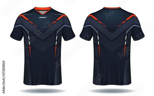 Fototapeta Soccer jersey template.sport t-shirt design.