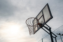Basketball Hoop Empty And Abandoned