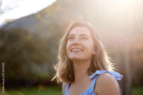 fototapeta na ścianę carefree woman in spring