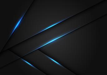 Abstract blue light dark grey metallic overlap design modern futuristic technology background vector illustration.