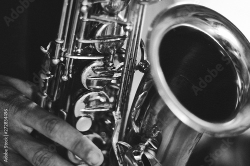 Saxophone played - 272834496