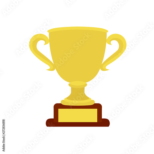 emoji vector golden trophy cup isolated on white background