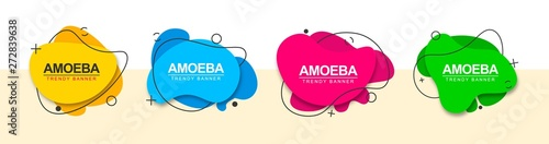 Photo Set of abstract banners for the design of ad, web and print