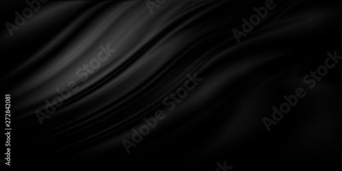 Black luxury fabric background with copy space - 272842081