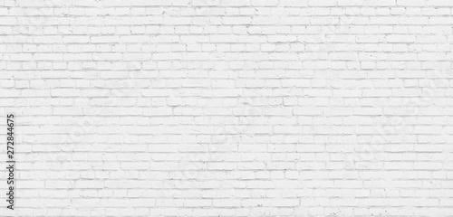 Tuinposter Baksteen muur White brick wall modern Background.
