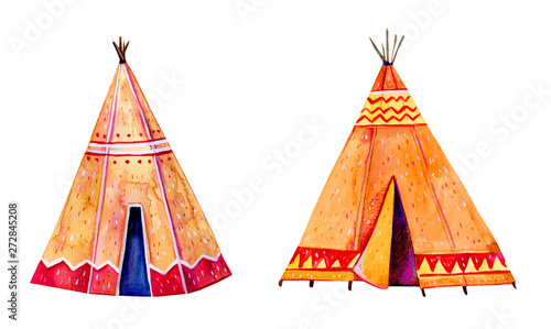 Two Native American tipis Canvas