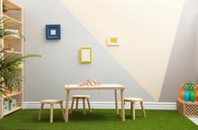 Stylish Playroom Interior With...