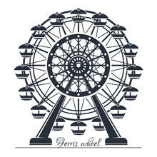 Ferris Wheel. Vector Icon Isol...