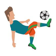 Soccer Player Sport Game Cartoon