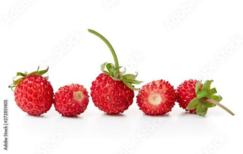 Photo sur Toile Les Textures Fresh wild strawberries