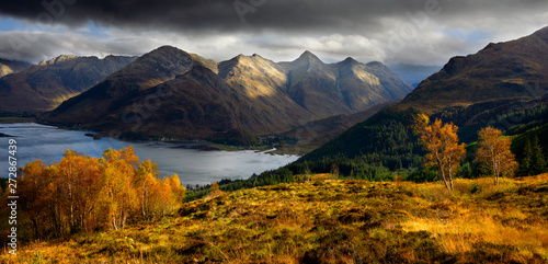 Autumn in Kintail Fototapet