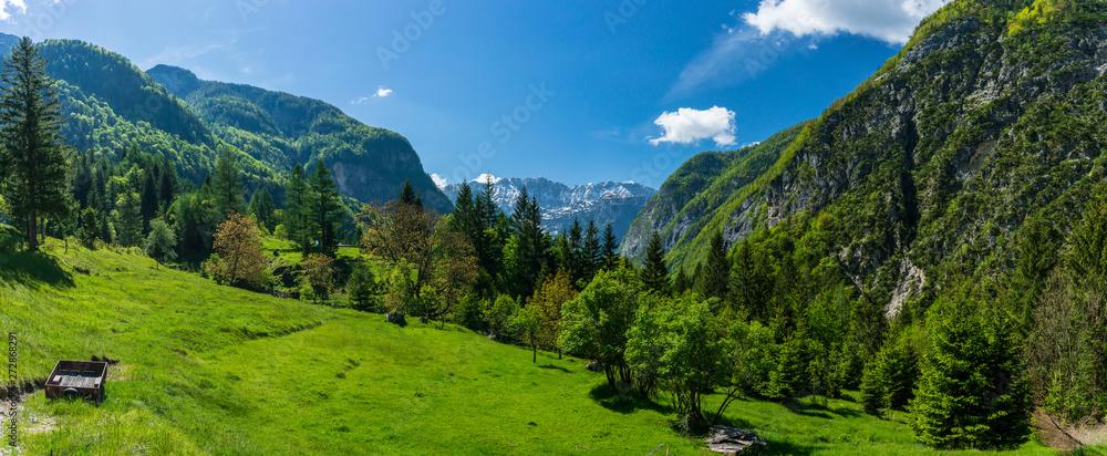 Fototapety, obrazy: Soca Valley Panorama