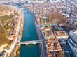 Leinwandbild Motiv Aerial view of Grenoble