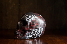 Skull On The Wall Background