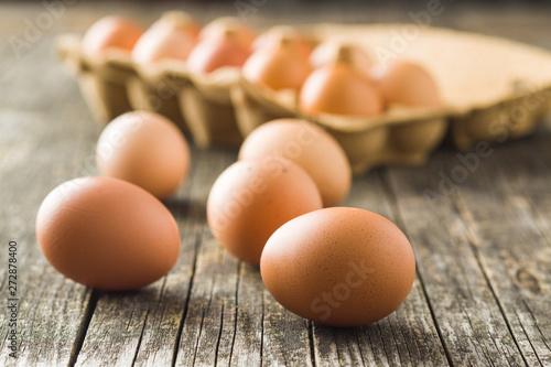 Poster Ecole de Danse Raw chicken eggs.