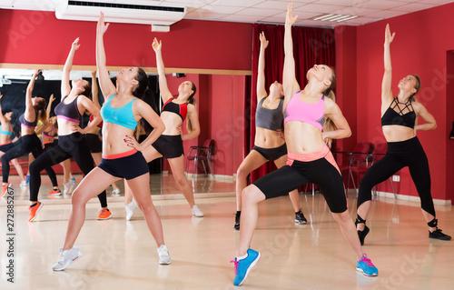 fototapeta na drzwi i meble Women dancing in class
