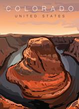 Colorado Modern Poster Vector ...