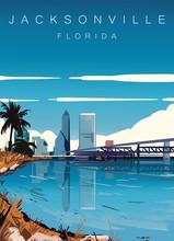Jacksonville Modern Vector Ill...