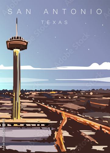 Photo San Antonio modern vector illustration