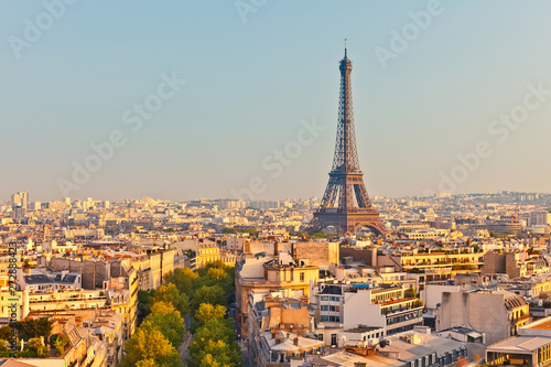 Aluminium Prints Paris Nice view from Paris - France