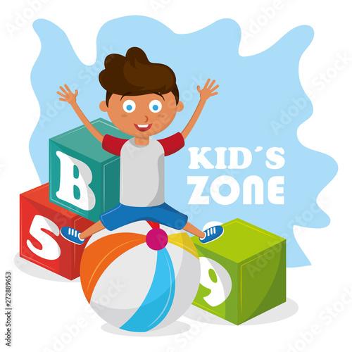 Stampa su Tela kids zone children entertaiment cartoons