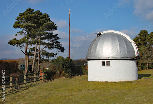 The Norman Lockyer Observatory near Sidmouth in Devon Canvas Print