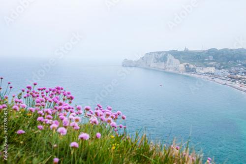 In de dag Toscane View of the Etretat in France, Atlantis coast.