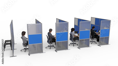 Canvastavla Modern Office Space Dividers