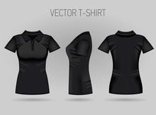 Blank Women's Black Short Slee...