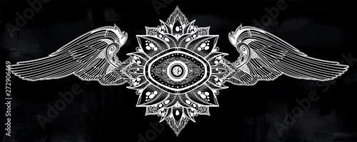 Decorative winged eye of providence Fototapeta