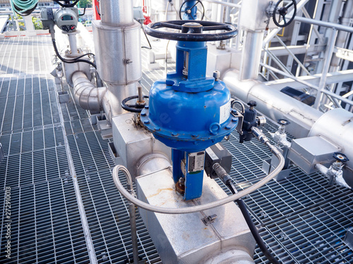 Photo Control valve for control flow and pressure of process condition such water, steam and gas which popular apply to install in industrial, power plant, chemical, oil and gas