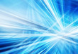 canvas print picture abstract background with straight intersected luminous blue and white lines
