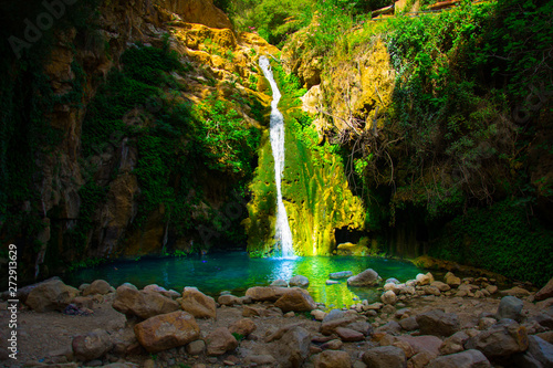 Canvas Prints Forest river Beautiful waterfalls in wonderful Algeria