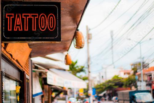 Signboard tattoo Canvas Print