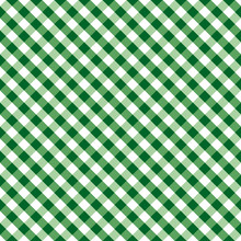 Gingham Seamless Check Cross Weave Pattern, Green And White, EPS8 Includes Pattern Swatch That Seamlessly Fills Any Shape, For Arts, Crafts, Fabrics, Picnics, Home Decor, Scrapbooks.