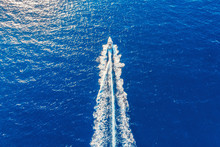 Speed Boat In Motion. Summer L...