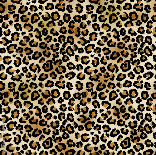 Leopard vector seamless pattern Canvas Print