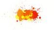 Yellow-orange blot on alpha channel