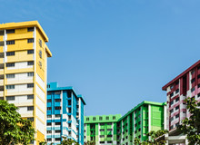 Colorful Singapore HDB Residential Building