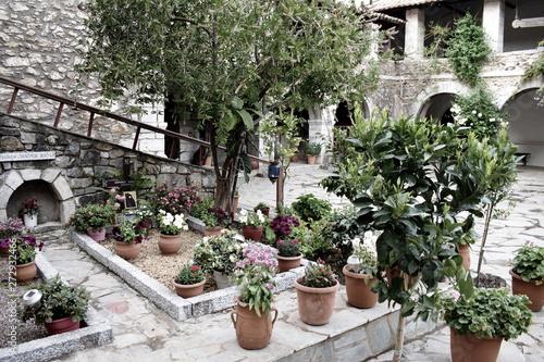 Aluminium Prints Bonsai Old Greek Monastery
