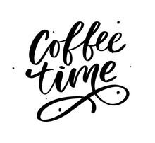 Coffee Time Card. Hand Drawn P...