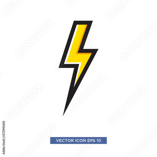 Garden Poster Cartoon cars thunderbolt icon vector illustration template