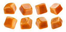 Caramel Candies Isolated On Wh...