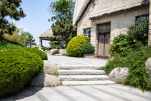 Summer Courtyard And Stone House