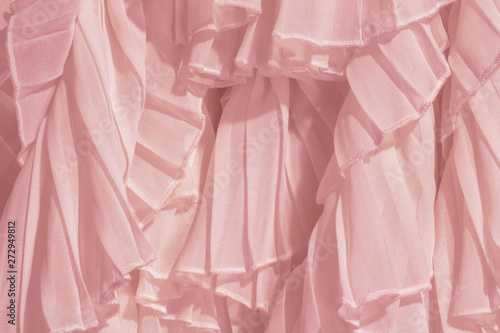 Obraz na plátně  Amaranth pink color chiffon fabric folds